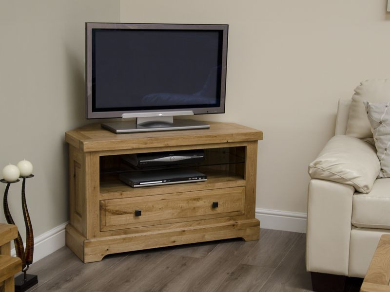 Deluxe Rustic Corner TV Unit