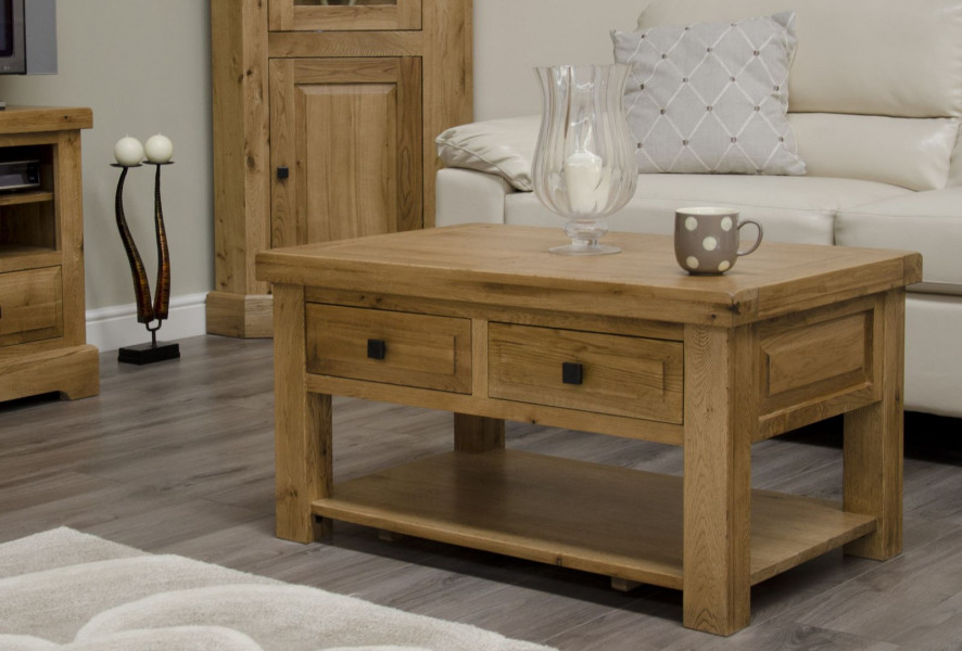 Deluxe Rustic 3x2 Coffee Table