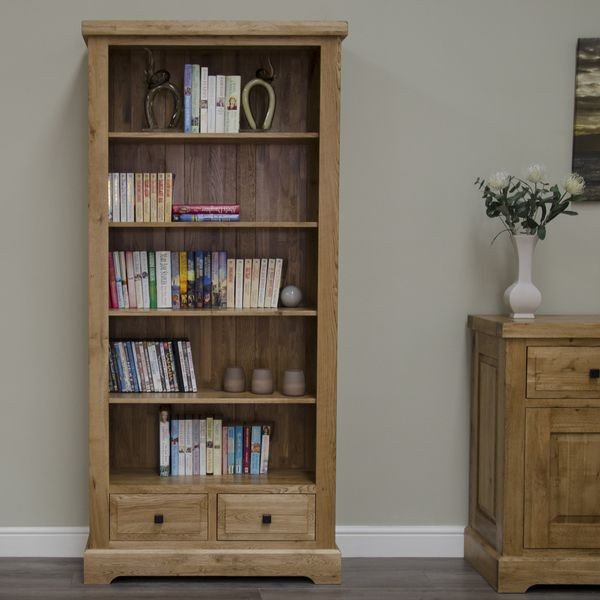 Deluxe Rustic Large Bookcase