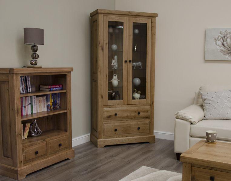 Deluxe Rustic Glass Display Cabinet