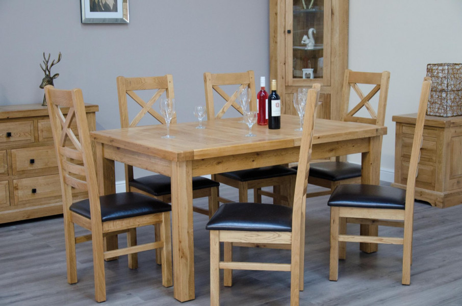 Deluxe Rustic Small Extending Dining Table