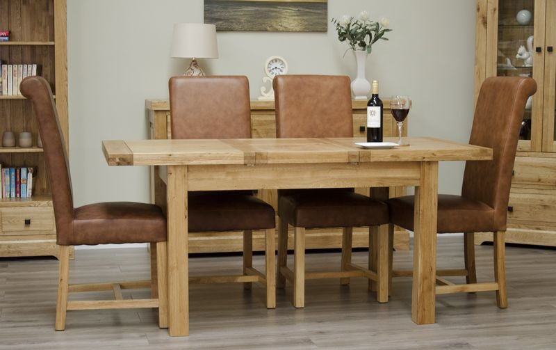 Deluxe Rustic Butterfly Extending Dining Table