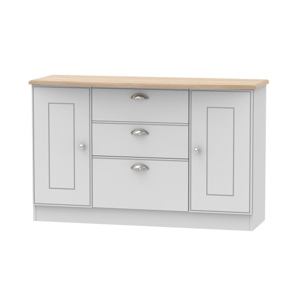 Kensington Grey & Oak 2 Door 3 Drawer Unit
