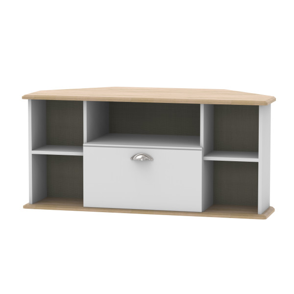 Kensington Grey & Oak Corner TV Unit