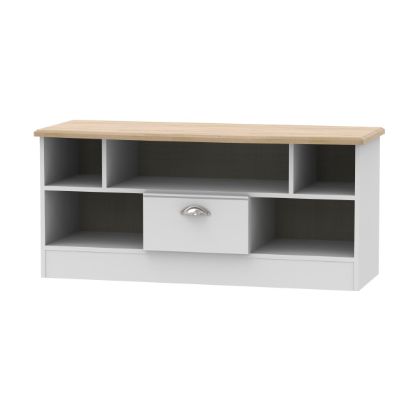 Kensington Grey & Oak Open TV Unit