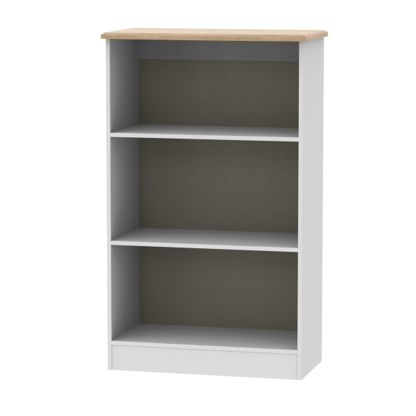 Kensington Grey & Oak Bookcase